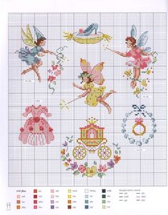 Veronique Enginger ''Fables, contes et comptines'' (fables and fairytale themed cross stitch) Baby Cross Stitch Patterns, Cross Stitch For Kids, Cross Stitch Love, Modern Cross Stitch, Cross Stitch Charts, Cross Stitch Designs, Cross Stitch Fairy, Cross Stitch Angels, Cross Stitching