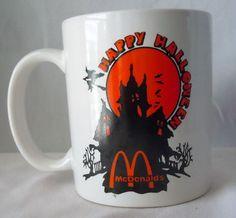 Vintage McDonalds Halloween Coffee Mugs Haunted house Witch Black Orange Rare… Halloween Stuff, Spooky Halloween, Maxwell House Coffee, Party Stuff, Mcdonalds, Awesome Stuff, My Ebay, Coffee Mugs, Witch