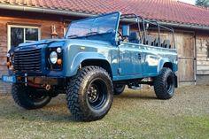 1988 Land Rover Defender 110 soft top LHD Arles Blue 2.5 Td