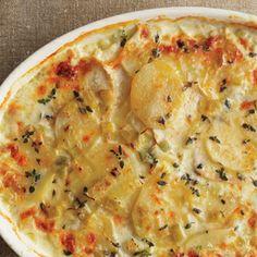 Potato & Celery Root Gratin with Leeks and 38 other Potato Recipes Leek Recipes, Cheesy Recipes, Side Dish Recipes, Potato Recipes, Vegetable Recipes, Vegetarian Recipes, Cooking Recipes, Cooking Ideas, Kohlrabi Recipes