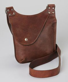 Look at this #zulilyfind! Brown Leather Crossbody Bag by I Love Accessories #zulilyfinds