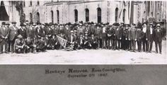 The Hawkeye Natives, builders of the Log Cabin in Crapo Park