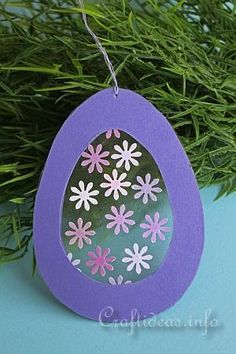 Easter Craft for Kids - Transparent Easter Egg Window Decoration 3