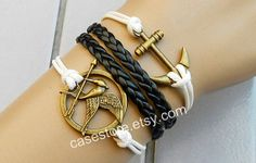 Anchor bracelet Mockingjay braceletMockingjay pin by charmcover, $7.99