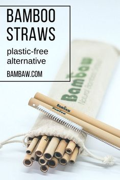 Plastic straws are used for just an average of 20 minutes BUT will take up to 500 years to degrade. It's time to switch to an and alternative to supplement your lifestyle. Bamboo straws have no aftertaste and are dishwasher friendly. Sustainable Wedding, Sustainable Living, Sustainable Products, Sustainable Design, Hygge, Zero Waste, Reduce Waste, Eco Friendly Cleaning Products, Green Life