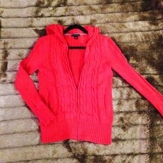 Tommy Hilfiger Cable Knitted Sweatshirt Deep but vibrant red zipup by Tommy Hilfiger. This soft and comfy fall item is the perfect slip on sweater while still maintaining a touch of class and elegance. Tommy Hilfiger Sweaters Cardigans