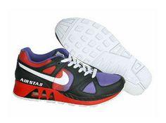 N20377 Nike Air Max 89 Shoes Mens Black/Red/Lilac Clearance