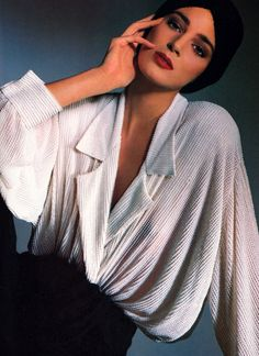 Donna Karan, American Vogue, November 1986. Photograph by Benoit Malphettes.
