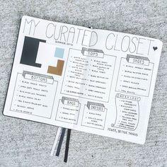 Curated Closet Bullet Journal Spread by emschwartzrdn on Instagram #capsulewardrobe