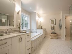 Photo of White Bathroom project in Clyde Hill, WA by Calista Interiors