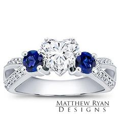 Appealing Moissanite 6 00mm Heart Engagement Ring WD Diamond Accents 14k | $2600.15