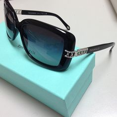 New for 2013 - Tiffany & Co. Eyeglasses and Sunglasses. This is TF 4025b color 8001/3c black