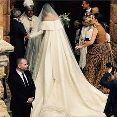 European royal Lady Charlotte Wellesley has married billionaire financier Alejandro Santo Domingo in a traditional Catholic wedding ceremony in Granada, Spain. Royal Brides, Royal Weddings, Lady Charlotte Wellesley, Bridal Gowns, Wedding Gowns, Wedding Bride, Duchess Of Cornwall, Carolina Herrera, Celebrity Weddings