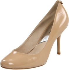From your favorite jeans to that certain little black dress, nearly everything in your closet comes alive paired with the Pressly pump from MICHAEL by Michael Kors. The reason is a sexy and sophisticated style that is also an irresistible example of beautiful simplicity. The sleek shape showcases a rich leather upper, soft rounded toe and dramatic heel.