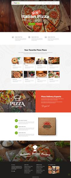 BRIDGE is a retina multipurpose WordPress theme perfectly suitable for just about anyone. Whether you are a creative looking for a modern portfolio website, a corporate team, a lawyer, a dentist or a freelancer, Bridge is your best choice. Best Restaurant Websites, Restaurant Website Design, Restaurant Website Templates, Pizza Restaurant, Pizza Pizzeria, Website Design Layout, Website Design Company, All You Need Is, Food Web Design