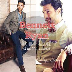 Bennett Ryan, Beautiful Bastard by Christina Lauren. [Model: Noah Mills]
