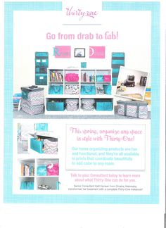 Organize any space with Thirty-One. It's really that easy