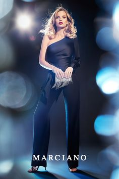 Skip the dress and standout in a jumpsuit from the Marciano Holiday '17 Collection this New Year's Eve.