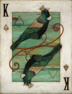 Kathryn Furniss, Artist - Artbay Gallery / New Zealand Contemporary Art Franz Marc, Playing Cards Art, New Zealand Art, Nz Art, Creation Crafts, Maori Art, Bird Art, Illustrations Posters, Contemporary Art
