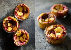 Clafoutis with brown butter
