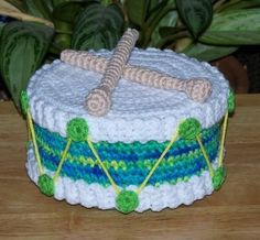 Little Drum Treasure Cake PDF Crochet Pattern by FourBeesDesigns, $4.95 using this pic for inspiration to create my own pillow version...