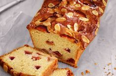A light, moist Plum & almond loaf, packed with sweet plums & topped with flaked almonds. You can find many more delicious baking recipes at Tesco Real Food.