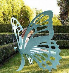 iron butterfly garden seat