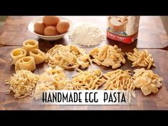 Handmade Egg Pasta – Shaped 9 Ways – Just One Bite, Please? Egg Pasta Recipe, Dough Recipe, Pasta Recipes, Pasta Casera, Pasta Machine, Pasta Shapes, Complete Recipe, Fresh Pasta, Paleo