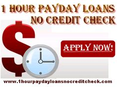 1 Hour Payday Loans No Credit Check can be the ideal financial solution for the citizens of the US who are facing bad credit problems and want some instant monetary help. Here any salaried person can get the money in his hand within an hour of applying without paying any upfront fee charges with no credit check. Apply now!