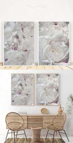 White Peonies, White Flowers, Kitchen Posters, Peony Print, Big Photo, Beige Walls, Creative Gifts, Gift Guide, Christmas Gifts