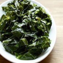 Peppered Collard Greens Recipe adapted from Robert Carter, Carter's Kitchen, Mount Pleasant, SC Chef Recipes, Veggie Recipes, Healthy Recipes, Healthy Foods, Recipies, Collard Greens Recipe, Be Light, Tasting Table, Southern Recipes
