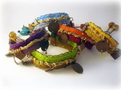 MADE TO ORDER handwoven bracelets/Boho chic jewelry /hippie chic /ethnic /gemstones/ Gift/ greek jewelry