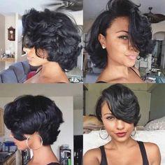 Curly Hair Styles, Natural Hair Styles, Instagram Hairstyles, Relaxed Hair, Love Hair, Short Hair Cuts, Short Pixie, Curly Pixie, Blonde Pixie