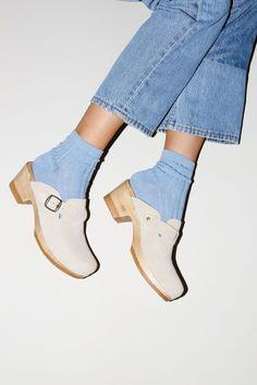 clogs and socks