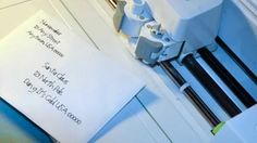 How to Address an Envelope with Cricut Explore & Design Space