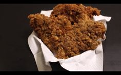 Fried hot chicken
