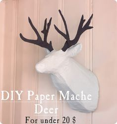 If you've been wanting to jump on the animal head trend, here's a tutorial for making your own West Elm inspired paper mache deer head for only $20!