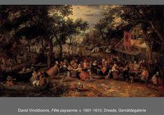 David VINCKBOONS (1576-1632), La fête paysanne, c.1601-10, Dresde, Gemäldegalerie