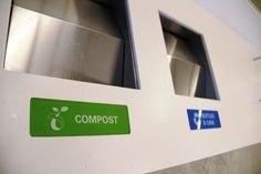 SFO has an extensive recycling and composting program and requires all food vendors in the new terminal to use compostable service ware and compost their food waste.  Do your part as well and help recycle and compost in these conveniently located bins!