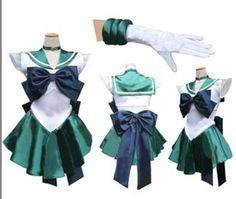 Sailor Moon Neptune Kaiou Uniform Costume Cosplay Dress Anime Manga | eBay