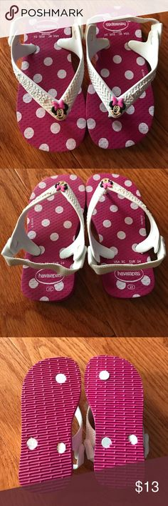 Disney Minnie Mouse Havaianas Brand New Baby Minnie Mouse Havaianas.  Shoes have Elastic Back for Comfort.  I believe they run a little on the small side.  I recommend sizing up Havaianas Shoes Sandals & Flip Flops