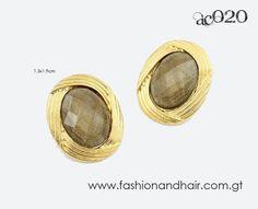 Brown round earrings-PROMOCIÓN ESPECIAL