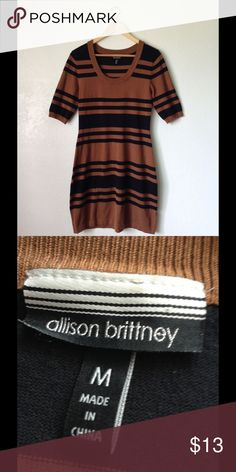 Stripe Stretchable Dress Size Medium ✅In great condition ✅Comfy to wear ✅Price firm unless bundled  🌸Love more than one item?feel free to bundle & make an offer 🌸3 or more items get 20% less on checkout 🌸No trades 🌸No transactions off poshmark 😊Happy shopping in my closet Allison Brittney Dresses