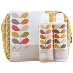 Orla Kiely Geranium Wash Bag Set 500 ml: Amazon.co.uk: Beauty