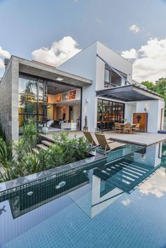 This house will be my future house! Architecture Design, Residential Architecture, Amazing Architecture, Contemporary Architecture, Contemporary Houses, Future House, Design Exterior, House Goals, My Dream Home
