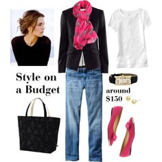 """""""Pops of Pink"""" by bluehydrangea on Polyvore"""