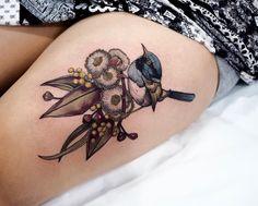 Body – Tattoo's – Sophia Baughan bird and flower tattoo… coolTop Body – Tattoos – Sophia Baughan Vogel- und Blumentattoo … Pretty Tattoos, Cute Tattoos, Beautiful Tattoos, Tattoos For Guys, Tattoos For Women, Tatoos, Badass Tattoos, Bird And Flower Tattoo, Flower Tattoos