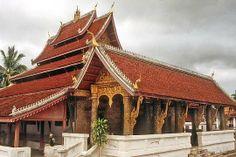 Wat Mai Suwannaphumaham Luang Prabang, Laos, House Styles, Design