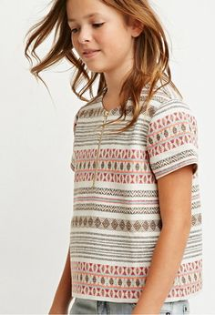 Geo-Patterned Top (Kids) | Forever 21 girls - 2000157905