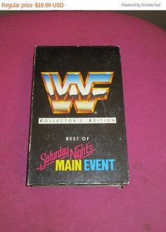 New WWF Wrestling best of Saturday night's Main Event collectors edtion on VHS Tape video sports videos classics by MYBARTERZONE on Etsy